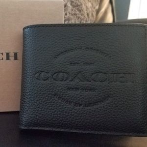 Coach Men's Leather Wallet NWT
